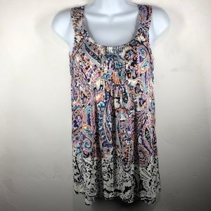 Meadow Rue Anthropologie paisley tank size XS